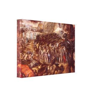 Tintoretto - Frerico II Gonzaga conquered Parma Stretched Canvas Print