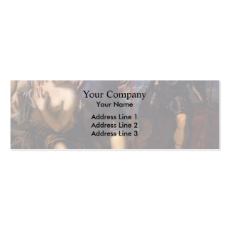 Tintoretto- Minerva Sending Away Mars Business Card Template