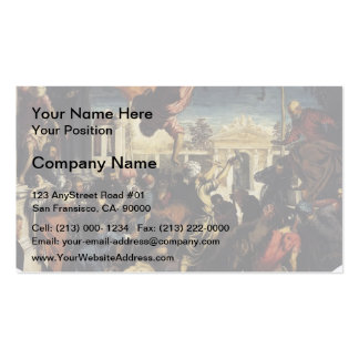 Tintoretto- Miracle of St Mark Freeing the Slave Double-Sided Standard Business Cards (Pack Of 100)