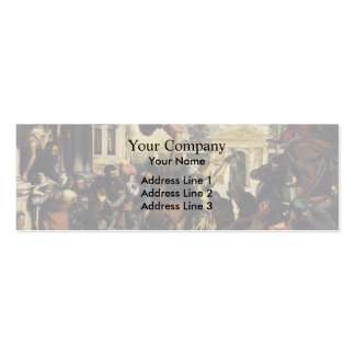 Tintoretto- Miracle of St Mark Freeing the Slave Double-Sided Mini Business Cards (Pack Of 20)