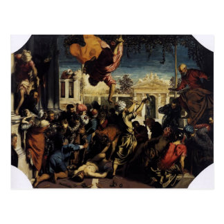 Tintoretto- Miracle of St Mark Freeing the Slave Postcards