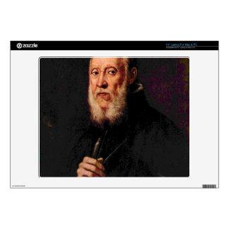Tintoretto - Portrait of the sculptor Jacopo Sanso Laptop Skin
