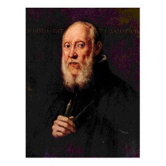 Tintoretto - Portrait of the sculptor Jacopo Sanso Postcard