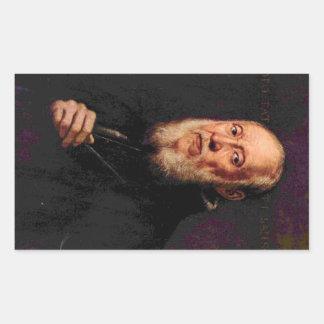 Tintoretto - Portrait of the sculptor Jacopo Sanso Rectangular Sticker
