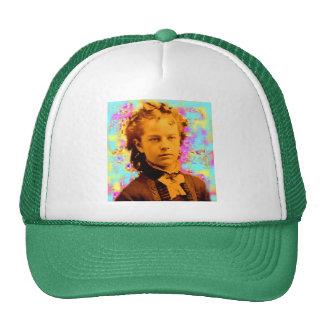 tintype girl trucker hat