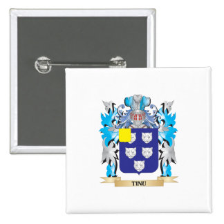 Tinu Coat of Arms - Family Crest Pinback Button
