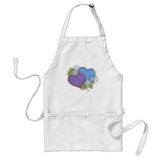 Tiny-011 Shocking Pink and Blue Adult Apron