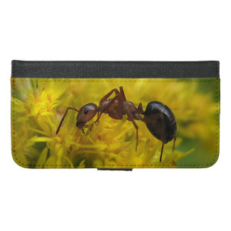 Tiny Ant on Goldenrod  iPhone 6 Plus Wallet Case