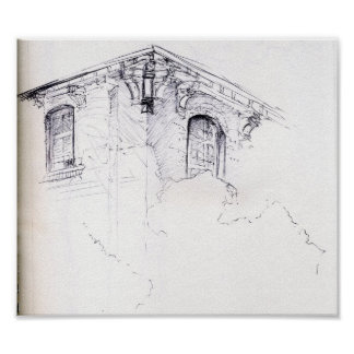 Architecture Drawing Posters architectural drawing posters | zazzle