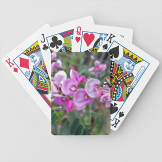 Tiny aromatic pink flowers bicycle card deck