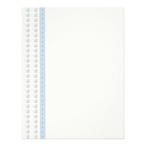 baby letterhead paper tiny baby carriage paper blue letterhead design zazzle baby letterhead paper