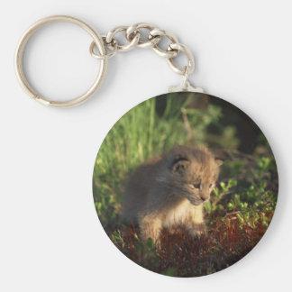 Tiny Baby Lynx Basic Round Button Keychain