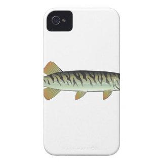 Tiny baby muskie Vector Art Fish Farm iPhone 4 Case