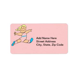 Tiny Ballerina Address Label