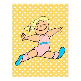 Tiny Ballerina Postcard