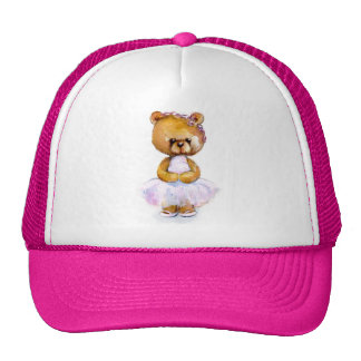 Tiny Ballet Bear Cap Trucker Hat