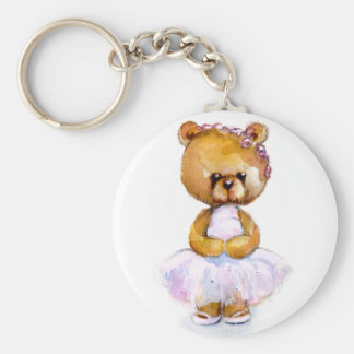 Tiny Ballet Bear Keychain