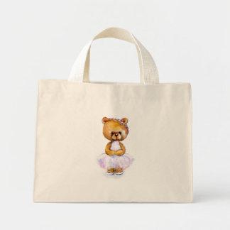 Tiny Ballet Bear Mini Tote Bag