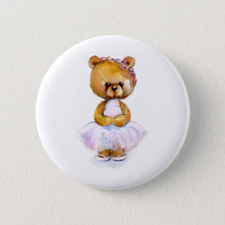 Tiny Ballet Bear Pinback Button