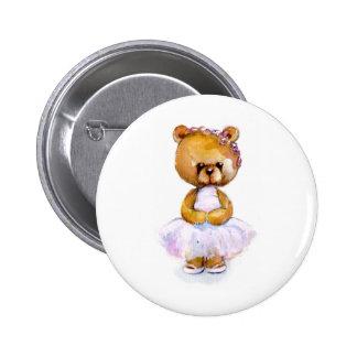 Tiny Ballet Bear Pinback Button