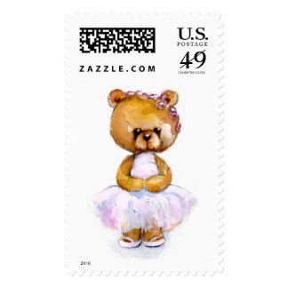 Tiny Ballet Bear Stamp