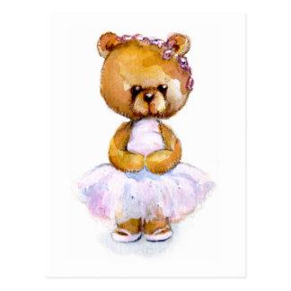 Tiny Ballet Bear Postcard