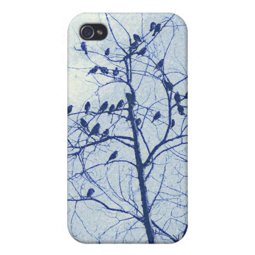 Tiny Birdies in the Treetop Cover For iPhone 4