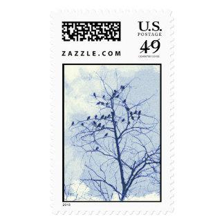 Tiny Birdies in the Treetop Stamp