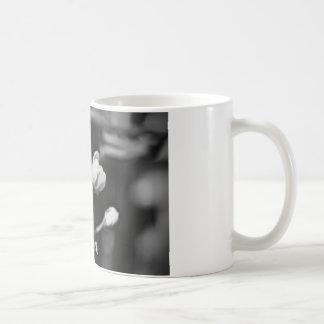 Tiny Black and White Flower Coffee Mug