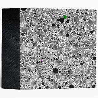 Tiny Black Grey Bling Pattern Binder