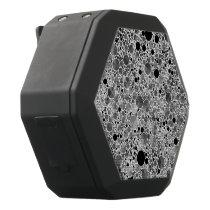 Tiny Black Grey Bling Pattern Black Bluetooth Speaker