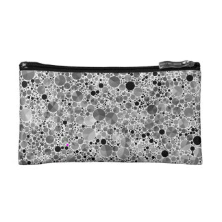 Tiny Black Grey Bling Pattern Makeup Bag
