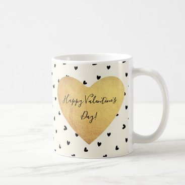 Professional Business Tiny Black Hearts Valentine's Day Coffee Mug