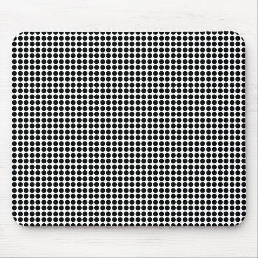 Tiny Black Polka Dot Pattern Mouse Pads