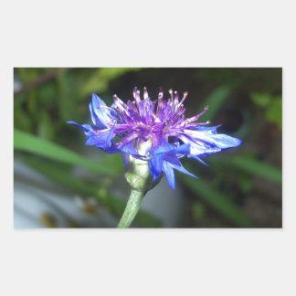 Tiny Blue and Violet Blossom Rectangular Sticker