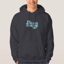 Tiny Blue Elephants Hoodie