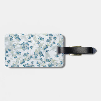 tiny blue flowers background bag tag