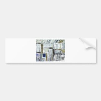 Tiny Blue Opening in the White Wall Bumper Sticker