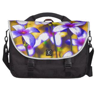 Tiny Bluet Wildflowers Digital Art Commuter Bag