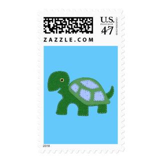 Tiny Boy Turtle Applique Postage