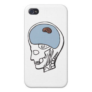 Tiny Brain Cover For iPhone 4