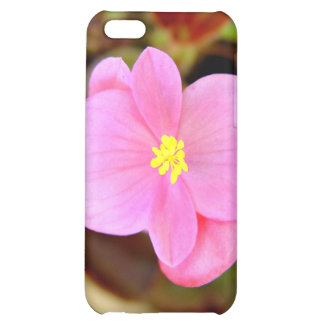 Tiny bright pink and yellow flowers iPhone 5C case