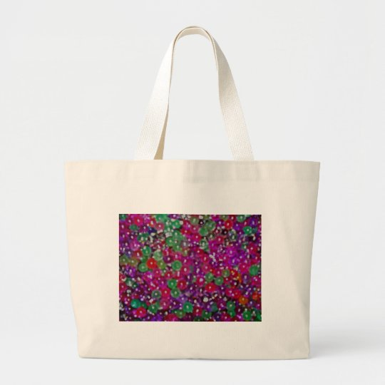 Tiny bubbles, oval large tote bag