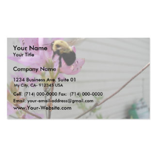 Tiny Bumble Bee Collecting Honey And Pollen From B Business Card
