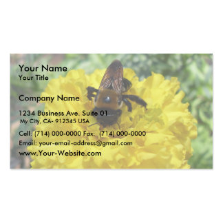 Tiny Bumble Bee Collecting Honey And Pollen From B Business Cards