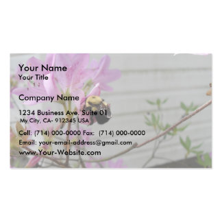 Tiny Bumble Bee Collecting Honey And Pollen From B Business Card Template
