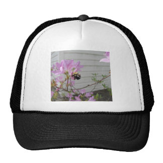 Tiny Bumble Bee Collecting Honey And Pollen From B Trucker Hats