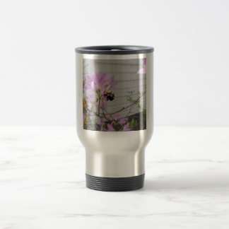 Tiny Bumble Bee Collecting Honey And Pollen From B Mug