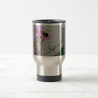Tiny Bumble Bee Collecting Honey And Pollen From B Coffee Mugs