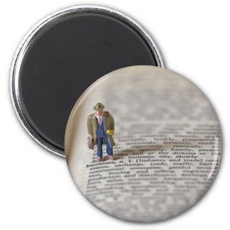 Tiny Businessman 2 Inch Round Magnet